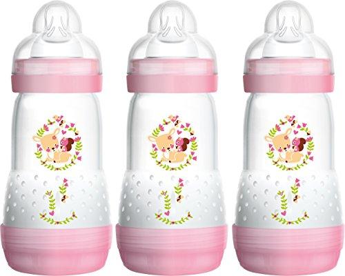 MAM Anti Colic Flaschen 260ml Dreierpack für Mädchen (2+ Monate)