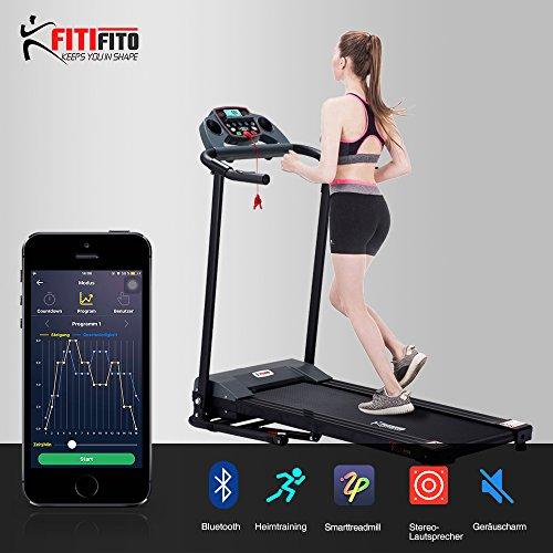 Fitifito FT300 Klasse Einsteiger Laufband zu einem super Preis! 1PS, 10kmh Optimal für Anfänger und Fortgeschrittene. Gehen Walken Joggen
