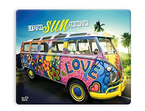 "Preisvergleich Produktbild Witziges Mousepad 23 x 19 cm, mit Motiv, VW Bus Bulli Oldtimer ""Let the sun shine in"""