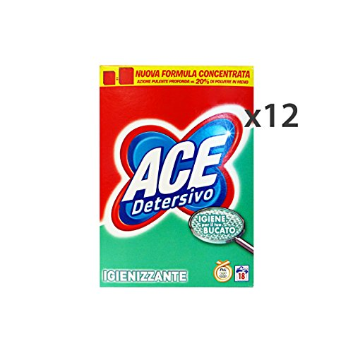 Set 12Ace Waschmaschine Staub 18Mis. Behälter Reinigungsmittel Haus (Ace Waschmaschine)