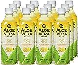 Allgroo Aloe Vera Nektar (40% Aloe Vera, vegan, pfandfrei) Yuzu und Zitrone, 12er Pack Vorratspackung (12 x 500ml)