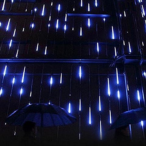 xinban, 50cm 8Tube 240LED Meteor douche de pluie de lumière LED Meteor Shower pluie Tube pour mariage fête Noël Décoration étanche bleu