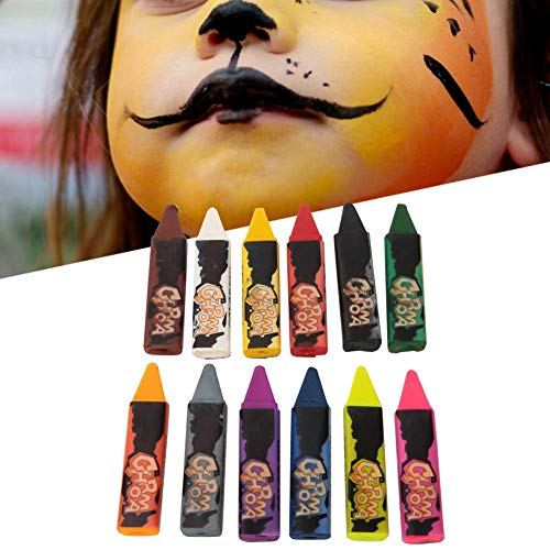 Gesicht Bleistift Kostüm - Meiyya Gesicht malen Kit, Gesicht malen Bleistifte Body Painting Pen für Kinder Party Make-up(12 Farben)