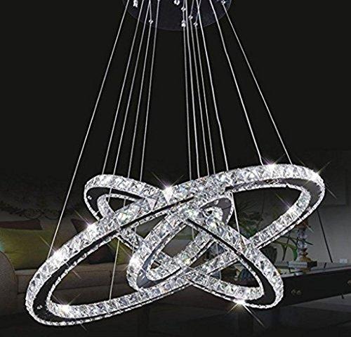 Natood Crystal Chandelier Padent Lamp Ceiling Lamp 30 Cm * 50 Cm * 70 Cm Neutral White LED Power 34W For Living Room Room Restaurant Bedroom Study