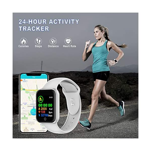 Reloj Inteligente, 1.4 Inch Smartwatch with Monitoreo de presión Arterial, Pulsómetro Impermeable IP68 Pulsera Actividad con Inteligente de Podómetro y Monitoreo del Sueño para Android y iOS 3
