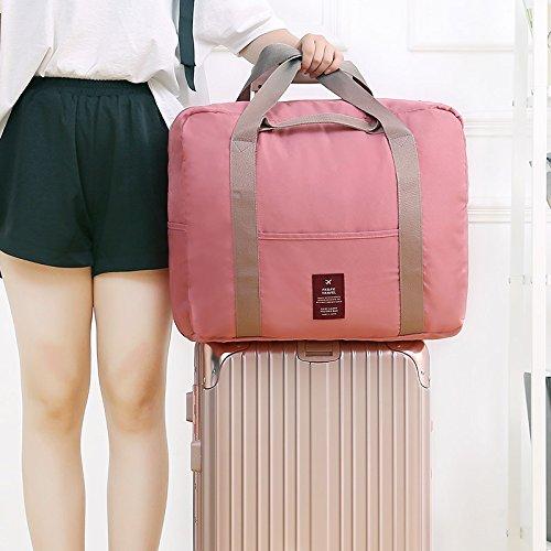 DaDago Honana Hn-Tb32 Große Faltbare Reisetasche wasserdichte Aufbewahrungstasche Tasche Tasche Tasche Handtaschen Tasche Tasche Tasche Tasche Tasche Tasche Tasche Taschen Veranstalter - Rosa