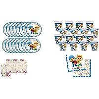 ALMACENESADAN 0462, Pack Desechables Fiesta y Cumpleaños Pocoyo y Nina, 16 Vasos, 16