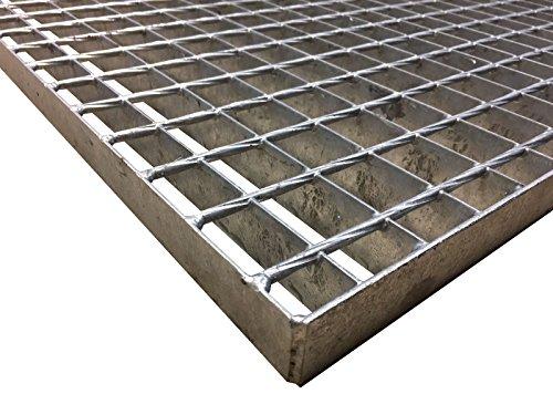 Sp Ein Zeichnen Sie (BBT@ Schweisspress-Gitterrost Treppenstufe aus Stahl / Breite 1000mm x Tiefe 1000mm / Maschenweite: SP-Rost 34x38 mm / Stahlstufen Gitterroststufen Treppe Podest Verzinkt)