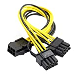 Cablecc PCI-E PCI Express ATX 6pin carte vidéo mâle vers 8broches Double et 6pin...