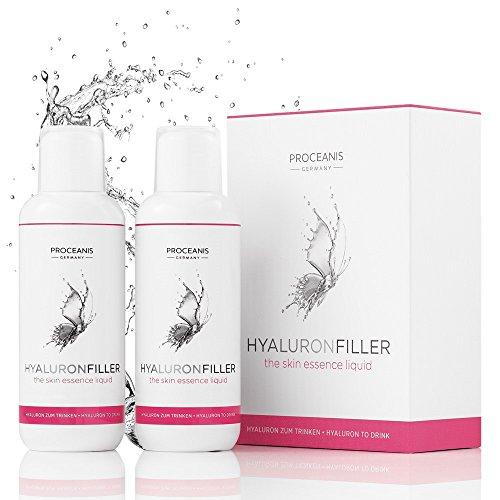 Hyaluron-Filler zum Trinken/Anti-Aging Beauty Drink aus Hyaluronsäure für natürlich schöne Haut. Vegan, hochdosiert, Made in DE