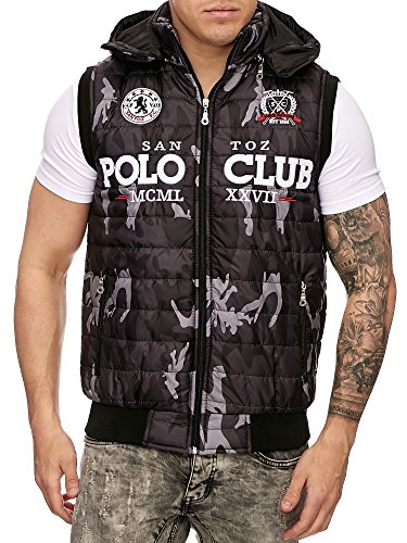 Herren Weste Camouflage Polo Club 912 Anthra