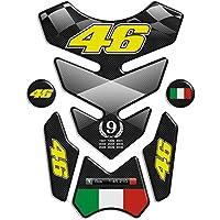 Tankpad Motorad Draht Muster Tankschutz ''Valentino Rossi 46 12,7x19'' Polymer 3D
