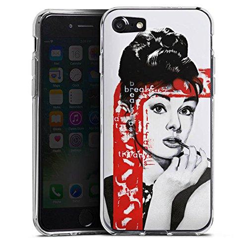 Apple iPhone X Silikon Hülle Case Schutzhülle Audrey Hepburn Zeichnung Frau Silikon Case transparent