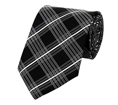 Fabio Farini Cravate de en noir gris