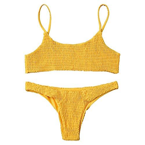 ZAFUL - Conjunto - para Mujer Amarillo M
