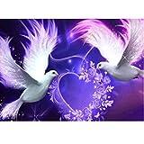 Rameng- Pigeon 5D Basteln Diamant Malerei Strass Stickerei Kreuzstich-aus Kunstharz Wanddekoration