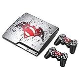Zhuhaijq decal Aufkleber Skin für PS3 Slim console Skin und 2 Playstation 3 Slim Spiele Controller Skin