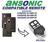 Ansonic sa 868–1E/SA 868–2E/SA 868–2E Compatible Clone Control remoto transmisor...