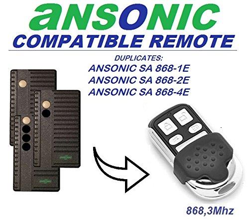 ANSONIC SA 868-1E/SA 868-2E/SA 868-2E Kompatibel Fernbedienung/Clone, 4-canali 868,3MHz Fixed Code Ersatz Fernbedienung. - Control Torantriebe Board
