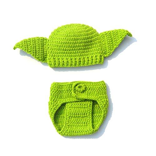 Kalttoy Baby Star Wars Yoda-Kostüm für Neugeborene, handgefertigt, - Baby Jungen Star Wars Kostüm
