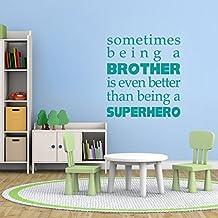 """A veces ser un hermano pared vinilo adhesivo para Brother superhéroe adhesivo para pared vinilo de pared adhesivo para dormitorio doble niños adhesivo para pared, vinilo, Custom, 51""""hx46""""w"""