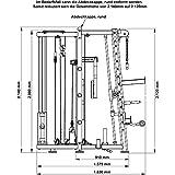 Multipresse Kraftstation MAXXUS 9.1 mit Trainingsbank – Bis zu 300kg Bankdrücken! Latzug, Beincurler, Ruderstation, Aufhängung für Boxsack und Duplex-Station inklusive. 5 Jahre Garantie - 3
