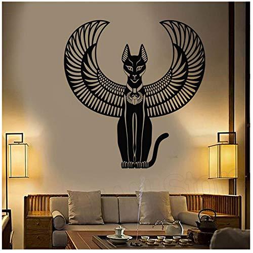 Alte Ägyptische Katze Göttin Von Ägypten Wandaufkleber Vinyl Art Removable Poster Moderne Ornament Mode Poster Aufkleber 57X61 CM