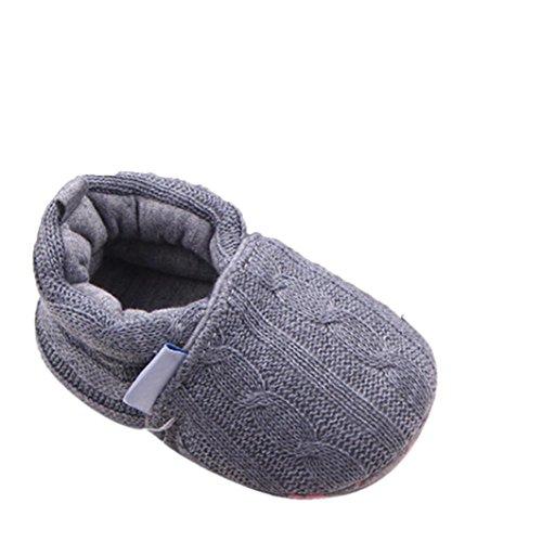 Tefamore Mode Baby Halbschuhe Sneaker rutschfest weiche Sohle Schuhe (11, Grau)