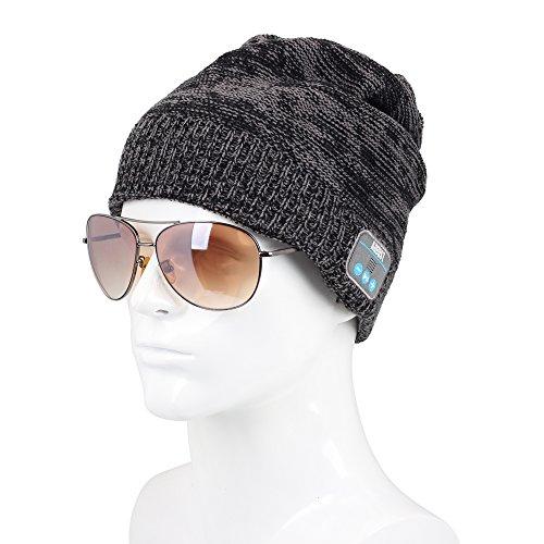 August EPA30 - Bluetooth Mütze - Winter Strickmütze mit Bluetooth Stereo Kopfhörer, Mikrofon, Freisprechen und integriertem Akku - Kompatibel mit Smartphones, Handys, Tablets, iPhone, iPad, Laptops (Kobalt) - 3