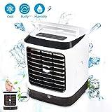 Raffreddatore d'aria Portatile,Condizionatore d'aria, 3-in-1 Mini Raffrescatore Evaporativo Umidificatore Purificatore D'aria, acqua di raffreddamento per ufficio per Casa Ufficio Camper