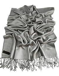 Diseño de Color Sólido Mantón Nepalés Pashmina Bufanda Envuelto Estola Tira CJ Apparel NUEVO