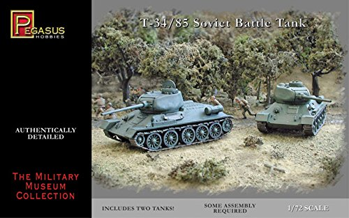 Pegasus Hobbies T-34 1/72/85 (PH7662, 2 pezzi usato  Spedito ovunque in Italia