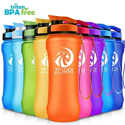Bottiglia per l'acqua sportiva, 400ml/500ml/700ml/1000ml, a prova di perdite bottiglia per bambini, senza-bpa | tritan borraccia acqua in plastica per scuola, bici, yoga | perfetto borraccia bici