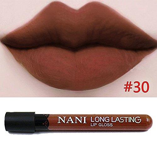 Neverland Gloss Mat Rouge à Lèvres Longue Tennue Waterproof Velvet Liquid Lipstick #30