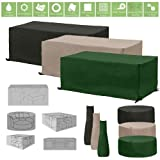 Water Resistant Garden Furniture and Accessory Covers, 3 Seater Sofa - Green