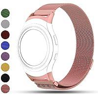 Correa de reemplazo iFeeker para reloj inteligente Samsung Gear S2, cierre magnético de acero inoxidable, SM-R720R730, color oro rosa