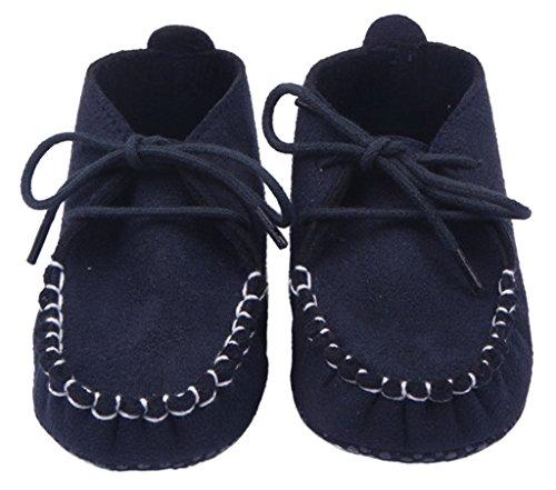 Lukis Babyschuhe Junge Lauflernschuhe Atmungsaktiv Mokassins Schnürschuhe Navy