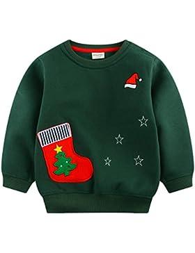 mimiwinga- Sudadera Manga Larga de Niños para Navidad Invierno Otoño Chandal Ropa Infantil Jersey Sweatershirt...