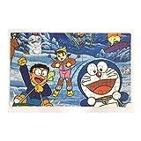 Happy GiftMart Fun Doraemon 60 pieces Wooden Jigsaw Puzzle Multicolor Cartoon Puzzle for Kids 22.5 cm x 13.8 cm