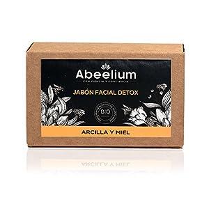 Abeelium – Pack Bee Eco | Jabon Facial Natural para una Limpieza Facial en Profundidad + Jabonera de Madera – Producto…
