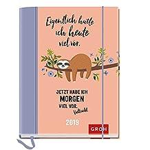 Eigentlich hatte ich heute viel vor 2019: Terminplaner mit Wochenkalendarium