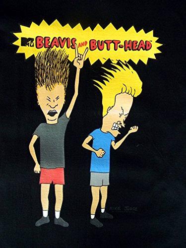 Beavis and Butthead Herren T-Shirt,Angry, Schwarz Schwarz