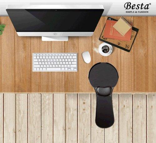 Fiona Computer Desk aufsteckbaren Unterarm Unterstützung für komfortable Arbeit am Computer (Schwarz)