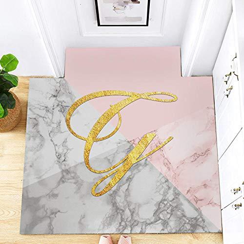 Tiwosan Kann PU-Leder Fußmatten Hause Fußmatten Küche Öl Fußmatten Wohnzimmer Teppiche schneiden kann leicht gereinigt Werden Haushalt-50 * 120 cm_Farbe (5#)