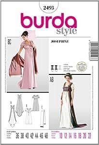 Burda B2493 Patron de Couture Joséphine 19 x 13 cm
