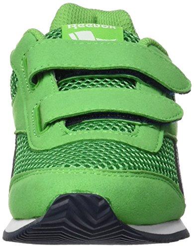 Reebok Royal Cljog 2rs 2v, Chaussures de Running Entrainement Garçon Bleu / bleu / blanc (vert vif / bleu marine collégial / blanc)