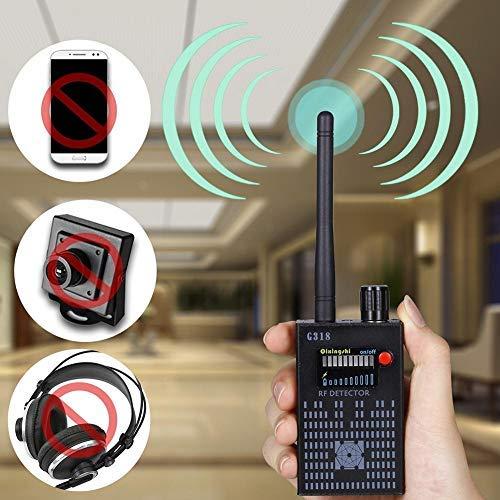 Hangang Anti Spion Signal Bug Detector Drahtlose RF Signal Detector Spy versteckte Spion Kameraobjektiv GSM Tracker Finder Empfindlichkeit Einstellbar(CS04030) -