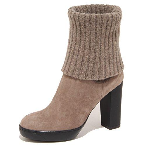 8049N stivaletto HOGAN OPTY tortora tronchetto donna boots women Tortora