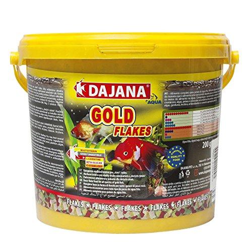 Dajana Gold Flakes - Mangime completo in fiocchi, per pesci velati e pesci rossi (5 lt)