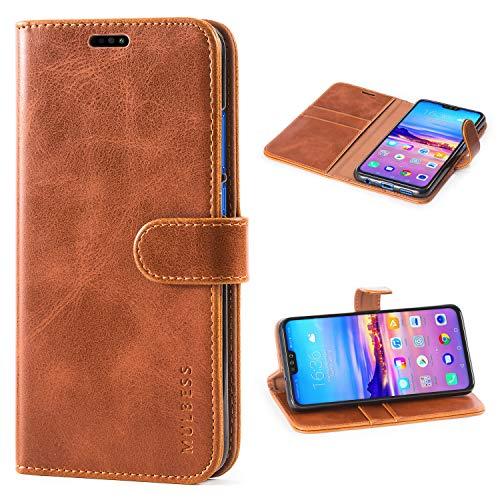 Mulbess Honor 8X 2018 Hülle, Leder Flip Case mit Brieftasche Schutzhülle für Huawei Honor 8X 2018 Tasche,Braun